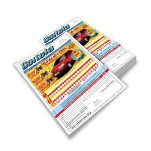 Cartelas de Bingo Papel Ap (sulfite, off-set) 75g 14x20  4x4 Corte Reto Padrão Número de bolas (25×75 – outros sobre consulta)