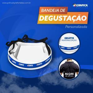 Bandeja para Degustação Adesivo Vinil  4x0 Brilho Material Resistente Grátis Personalização