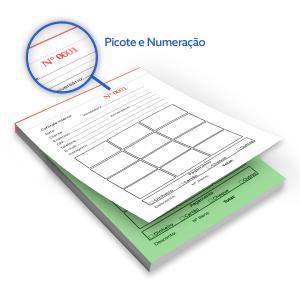 Bloco - Tam. 10x15cm - Numerado - 1x0 - Ap75g Papel Ap 75g 10x15cm 1x0  Colado e Picotado Numerado