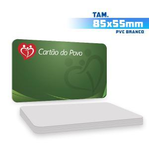 Cartões de Visita - 1000unid. - 8,5x5,5cm - Só Frente PVC 0,3mm 8,5x5,5cm 4x0 / Só Frente  Corte 4 Cantos Arredondados