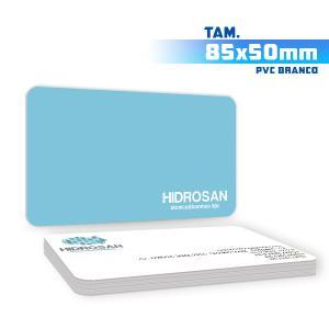 Cartões de Visita - 1000unid. - 8,5x5cm - Frente e Verso PVC 0,3mm 8,5x5cm 4x4 / Frente e Verso  Corte 4 Cantos Arredondados