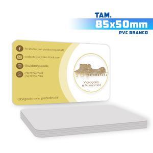 Cartões de Visita - 1000unid. - 8,5x5cm - Só Frente PVC 0,3mm 8,5x5cm 4x0 / Só Frente  Corte 4 Cantos Arredondados