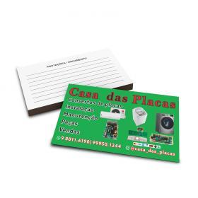 Cartões de Visita   4x1  1000unid Couchê 300g 9x5cm 4x1 Verniz UV Total Frente Corte Reto