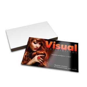 Cartões de Visita - 3000unid. - 9x5cm - Frente e Verso Couchê 250g 9x5cm 4x4 / Frente e Verso Verniz UV Total Frente Corte Reto