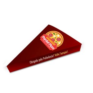 Embalagem Fatia de Pizza 14,5x3,5x19 Papel Supremo 250g Largura 14,5cm X Altura 3,5cm X Comprimento 19 4x0  Faca de Corte