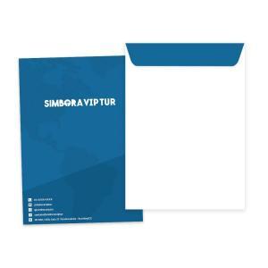 Envelope 24x34cm Ap  120g 24x34cm 4x0 (Impressão só de um lado) Sem Revestimento Colado