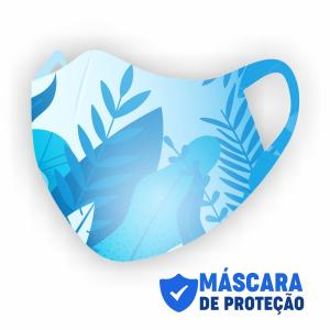 Máscara de Proteção Tecido Neoprene  4x0  Corte Laser Personalizada