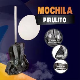 Mochila Pirulito PVC  4x0 Brilho Grátis Impressão no PVC NOVIDADE! acompanha bolso para panfletos ou squeeze.