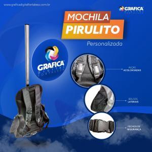 Mochila Pirulito PVC  4x4 Brilho Grátis Impressão no PVC NOVIDADE! acompanha bolso para panfletos ou squeeze.