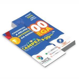 PANFLETOS - 20.000UNID. - 10X20CM - FRENTE E VERSO Couchê 90g 10x20cm 4x4 / Frente e Verso Brilho Corte Reto