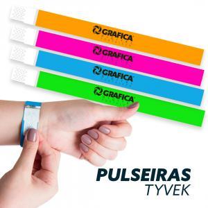 Pulseiras Tyvek  238x20mm 1x0 (Cor da personalização)