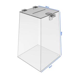 Urna Acrílico Transparente Acrílico 20x30x20