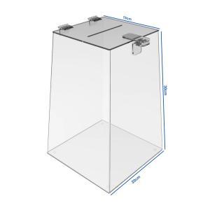 Urna Acrílico Transparente Acrílico 15x30x20cm