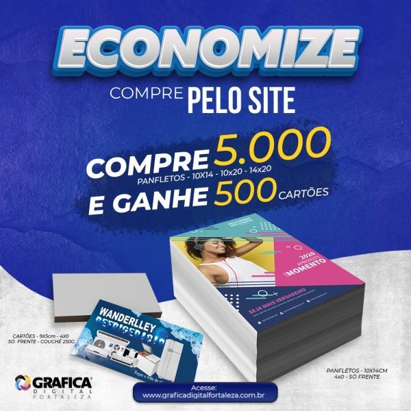 Promocional / Panfletos + Cartões / 10x20 / 5.000unid.